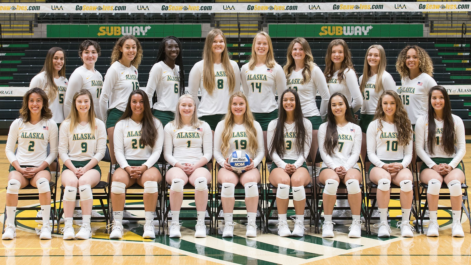 2019 Women S Volleyball Roster University Of Alaska Anchorage